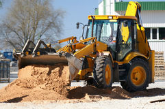 Tractor. Working.Equipment, excavation, ground royalty free stock images