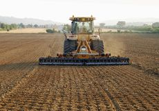 Tractor. Machine agriculture in a field Royalty Free Stock Photos