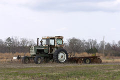 Tractor. Old tractor royalty free stock images
