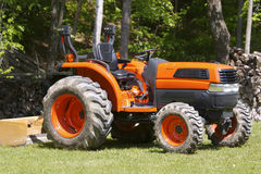 Tractor. Orange Farm Tractor Stock Photos
