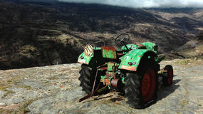 Tractor. Abandoned tractor in the mountain Royalty Free Stock Images