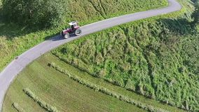 Tractor aerial view stock video