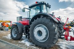 Tractor on agricultural machinery exhibition Royalty Free Stock Images