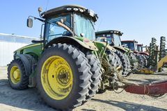 Tractor. Agricultural machinery. Russia, Temryuk - 15 July 2015: Tractor. Agricultural machinery tractor. Parking of tractor agricultural machinery. The picture Stock Images
