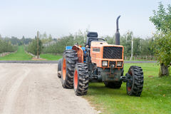 Tractor. Agriculture tractor on the field Stock Image