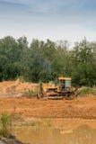 Tractor amarillo Fotografía de archivo libre de regalías