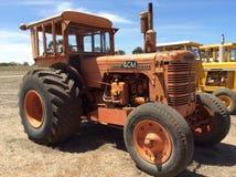 Tractor anaranjado del chambelán Imagen de archivo libre de regalías