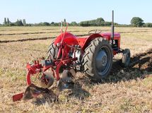 Tractor And Plough. Royalty Free Stock Images