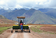 Tractor In The Andes Royalty Free Stock Photography