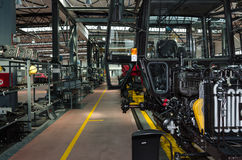 Tractor assembly line Royalty Free Stock Image