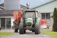 Tractor and Auger Mixer Royalty Free Stock Photos