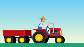 Tractor with Background stock footage