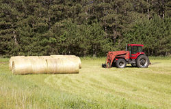Tractor and bales Royalty Free Stock Photo