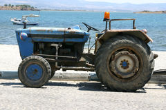 Tractor by the beach Stock Photography
