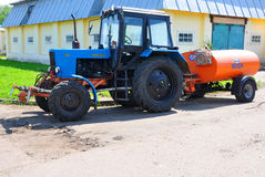 Tractor `Belarus 82.1` on the territory of the Museum-Reserve Leninskie Gorki. Russia Stock Photo