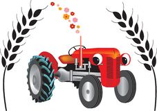 Tractor on bio diesel Stock Images