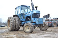 Blue ford tractor Royalty Free Stock Photography