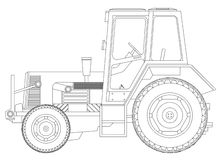 Tractor blueprint Royalty Free Stock Photography