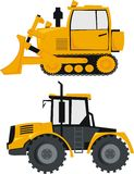 Tractor and a bulldozer Stock Photography