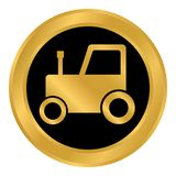 Tractor button on white. Royalty Free Stock Photos