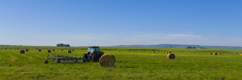 Tractor on the Canadian Prairie royalty free stock images