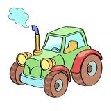 Tractor cartoon colored Stock Image