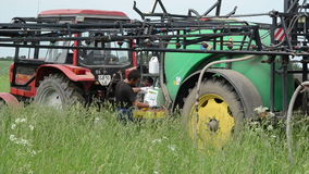 Tractor chemical crop stock video