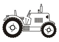 Tractor - coloring Stock Images