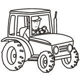 Tractor-coloring book stock illustration