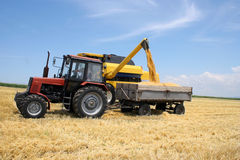 Tractor and combine Stock Image