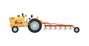 Tractor con el arado del ejemplo del equipo libre illustration