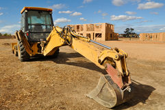 Tractor on a Construction Site Stock Image