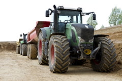 Tractor on construction site Royalty Free Stock Image