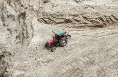 Tractor at construction site Royalty Free Stock Photo
