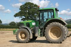 Tractor in countryside Royalty Free Stock Images