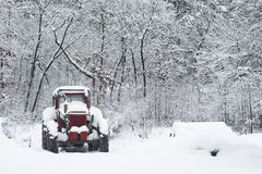 Tractor covered by snow Stock Images