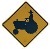 Tractor Crossing Royalty Free Stock Photos