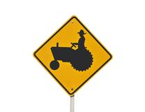 Tractor Crossing Sign Royalty Free Stock Images