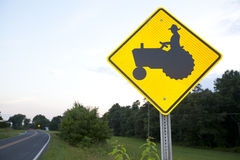 Tractor Crossing Sign Stock Images