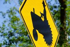 Tractor crossing Stock Photo