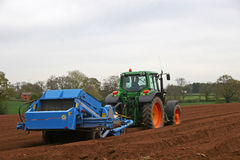 Tractor and cultivator Royalty Free Stock Image