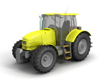 Tractor. 3D image of tractor on white background Stock Image