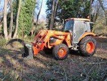 Tractor de Kubota LA1153 fotografía de archivo libre de regalías