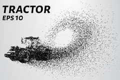 Tractor de las partículas El tractor del vector consiste en pequeños círculos Imágenes de archivo libres de regalías