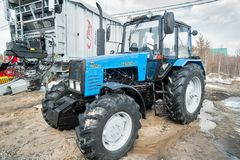 Tractor demonstration of Belarus production Stock Photos
