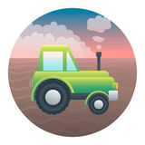 Tractor Detailed Illustration Royalty Free Stock Photos