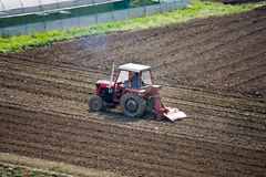 Tractor device agricultural Royalty Free Stock Photography