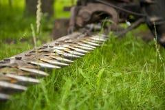 Tractor die het gras snijdt Royalty-vrije Stock Foto