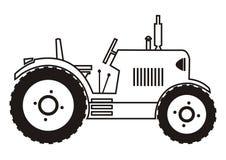 Tractor die - kleuren Stock Afbeeldingen