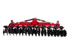 Tractor disc Harrow for preparing the ground. Isolated. Stock Image